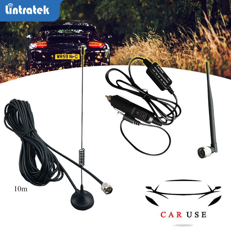 Lintratek Car Use Accessory For Gsm Umts Lte 2g 3g 4g Booster Repeater Signal Amplifier Cell Phone Car Set Cellular Amplifier Dd