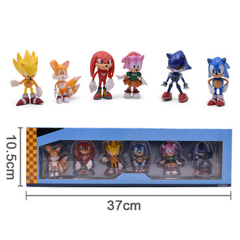 Sonic Anime Doll Action Figure Toys Box-Packed 6PCS/SET 2st Generation Boom Rare PVC Model Toy For Children Characters Gift