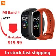 Orijinal Xiaomi Mi Band 4 akıllı Miband 4 bilezik kalp hızı spor 135mAh renkli ekran Bluetooth 5.0 toptan Dropshipping