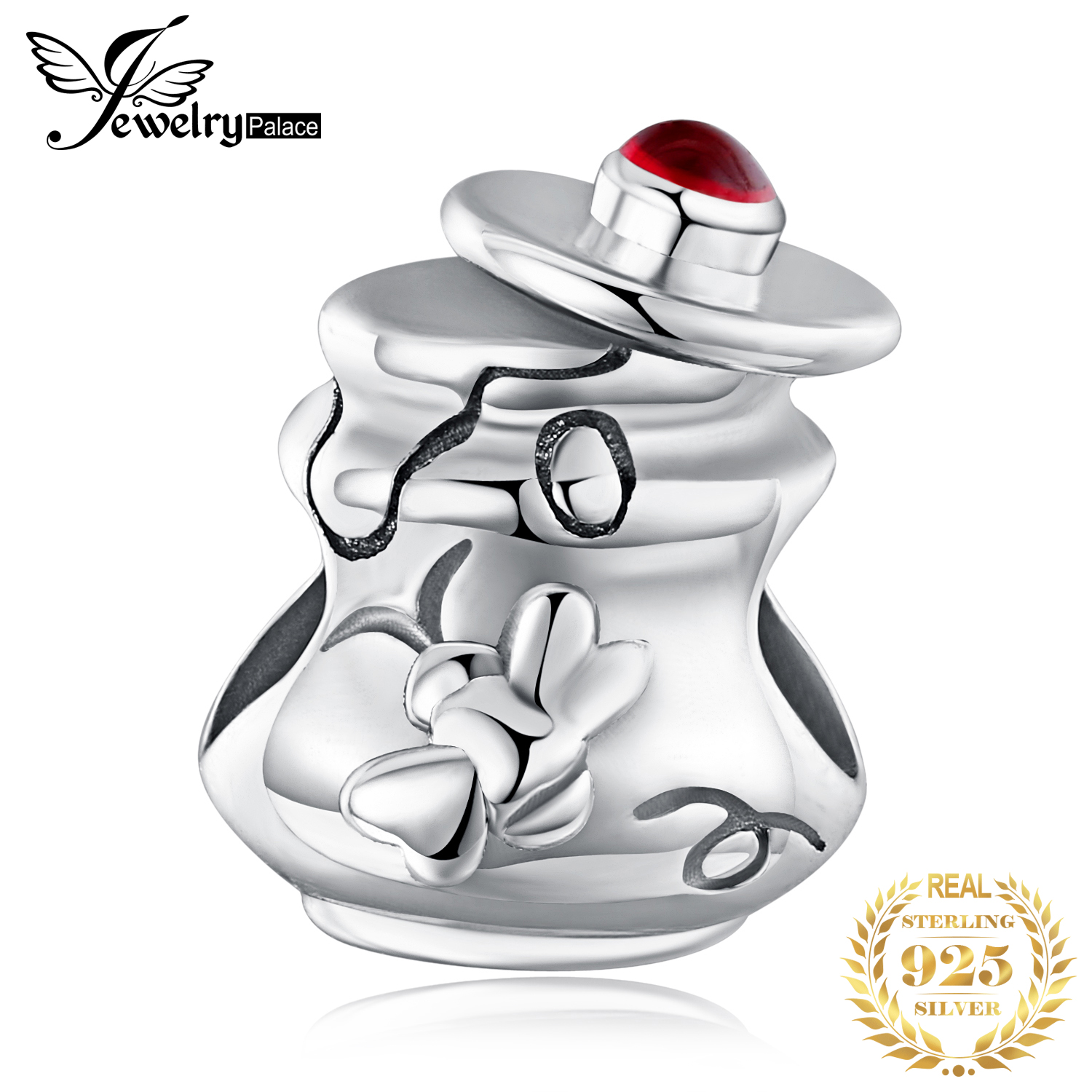 JewelryPalace Vintage 925 Sterling Silver Honey Pot Beads Charms Fit Bracelets Trendy Jewelry Gift Beads For Women Hot Selling