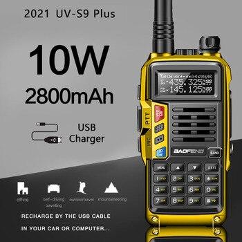 BaoFeng UV-S9 Plus 10 Вт большой диапазон портативный мощный Walkie Talkie CB радиоприемопередатчик обновление