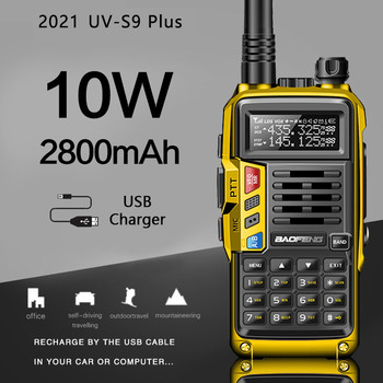 BaoFeng UV-S9 artı 10W uzun menzilli taşınabilir güçlü Walkie Talkie CB radyo verici upgrade