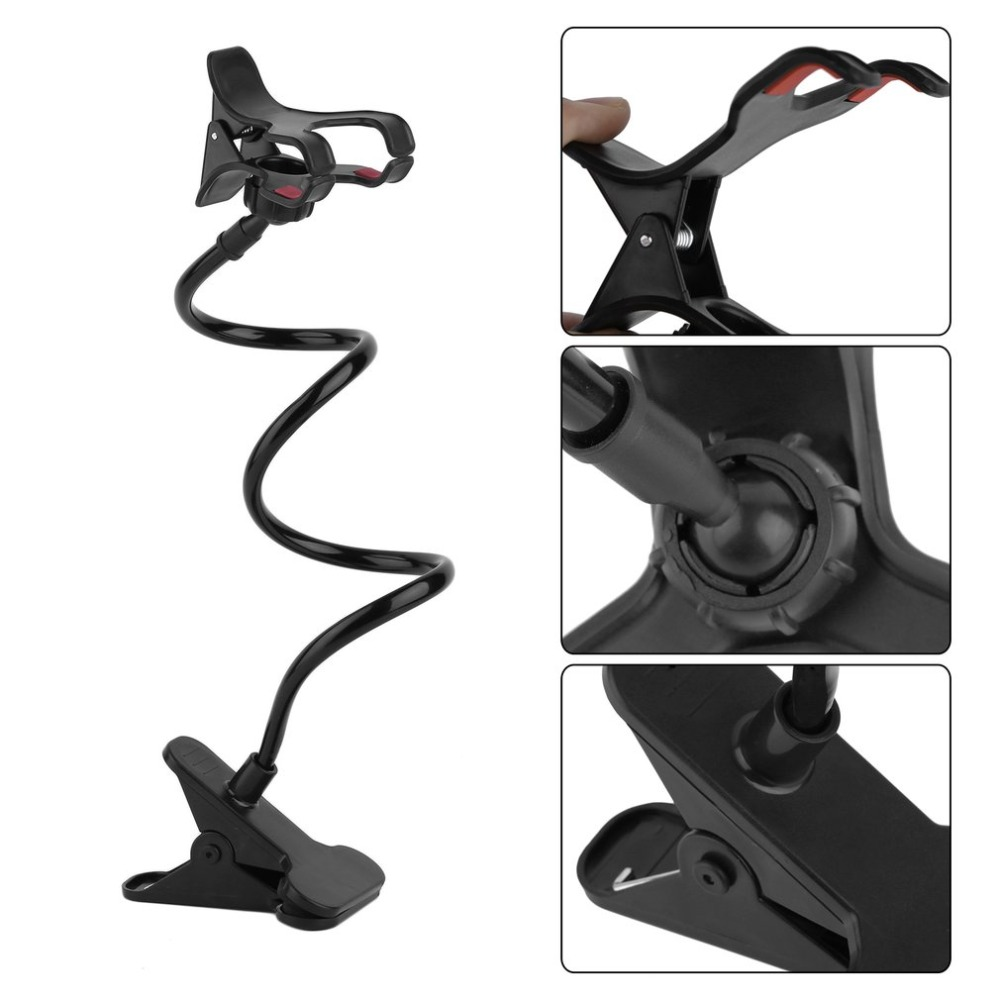 Universal Cell Phone Holder Stand Flexible Lazy Phone Holder Clamp Bed Desk Tablet Car Mount Bracket Clip For IPhone Samsung