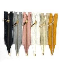 24.5cm Colorful High Quality Open-end Auto Lock Gold Metal Zipper DIY Handcraft For Clothing Pocket Garment Shoe Bag Accessories