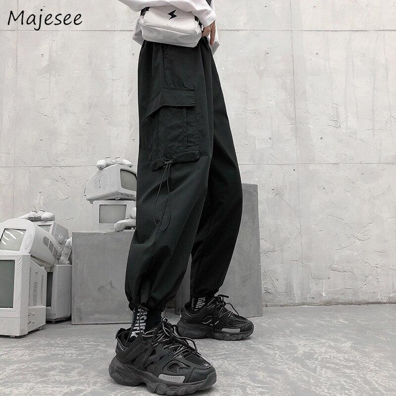 High Waist Pants Women Harajuku Sweatpants Womens Casual Loose Ankle-length BF Hip Hop Females Hot Sale Trousers Pure Color Soft
