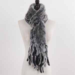 Image 5 - New LadyถักRexกระต่ายFur Tasselผ้าพันคอผู้หญิงฤดูหนาวWarm Natural Rexกระต่ายขนผ้าพันคอหนาถักจริงผ้าพันคอขนสัตว์