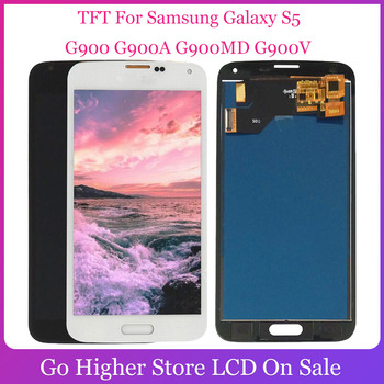 TFT For Samsung Galaxy S5 LCD G900 G900A G900MD G900V SM-G900F I9600 LCD Display + Touch Screen Digitizer Assembly image