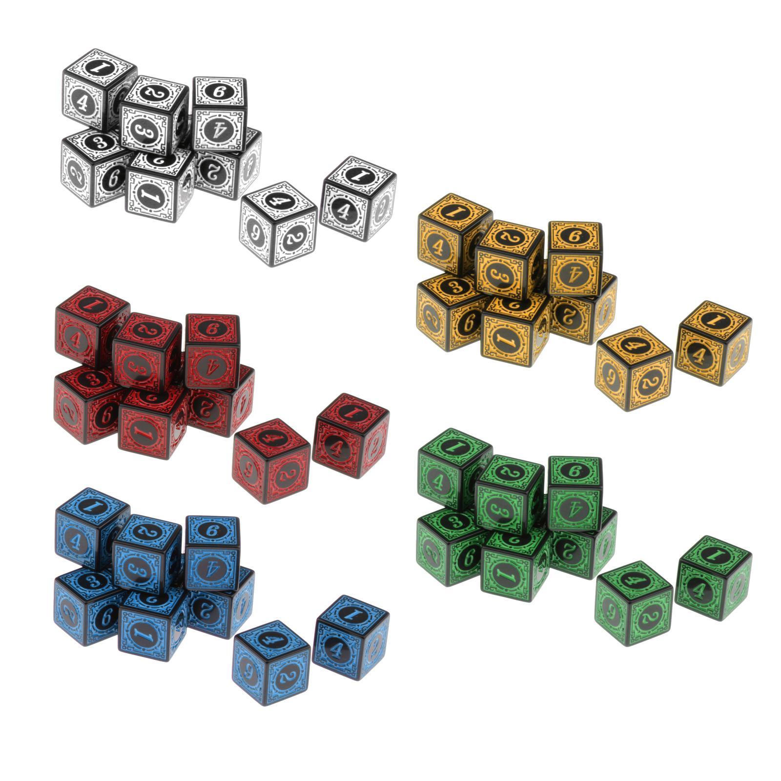 Dadi acrilici 10xMulti lati per giochi di ruolo da tavolo