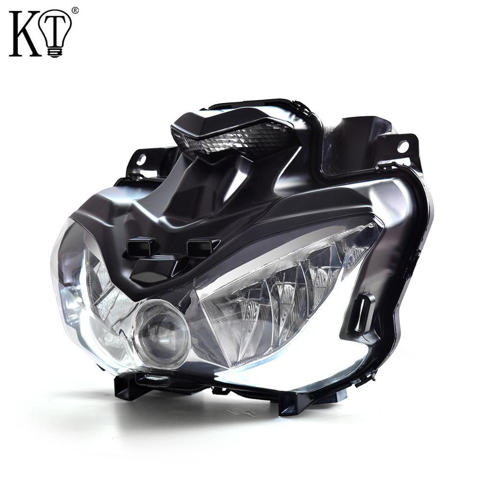 KT Full LED Headlight Assembly For Kawasaki Z900 2017-2019 White Angel Wing