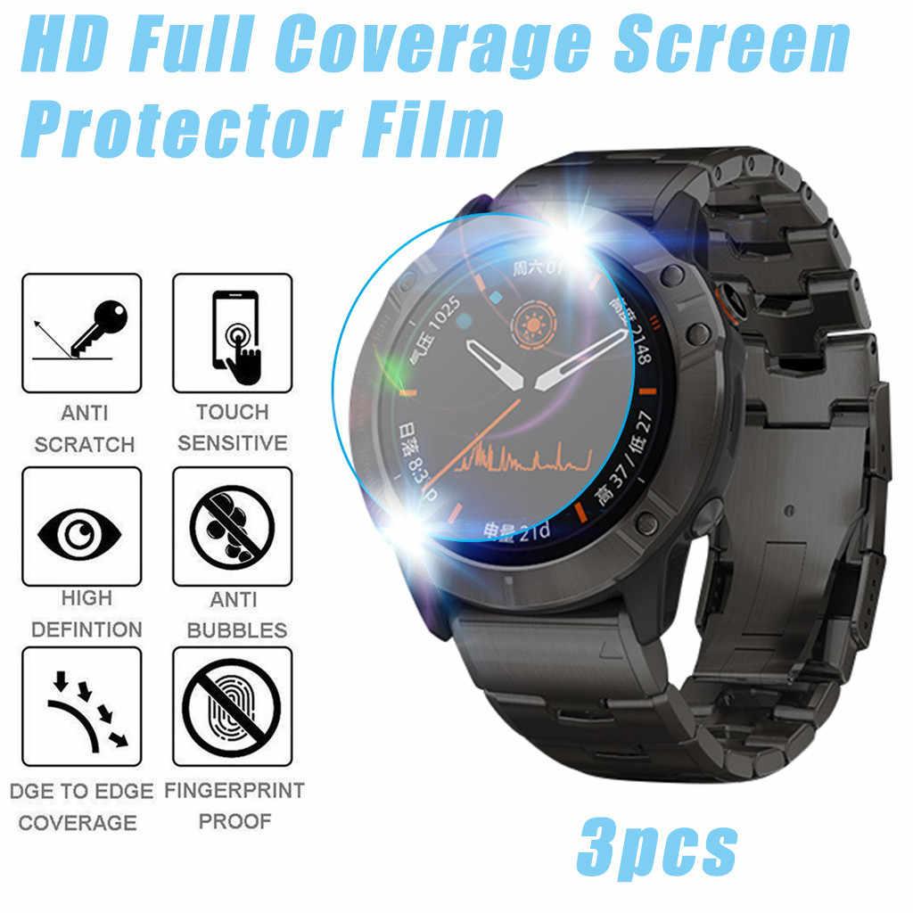Beste verkauf 2019 produkte 3Pack HD Full Coverage TPU Screen Protector Film Für Garmin FENIX 6X Pro Solar unterstützung dropshipping