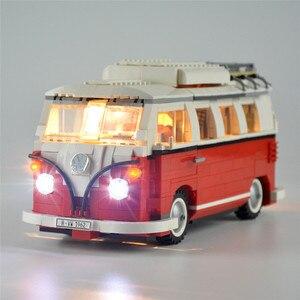 Image 1 - 2020 nowy legoinglys 1354 sztuk 10220 Technic serii Volkswagen T1 Camper Model zestawy klocków budowlanych zestaw cegieł zabawki 21001