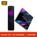 ТВ-приставка H96 MAX, Android 10,0, четырехъядерный процессор RK3318, 2,4 ГГц/5,8 ГГц, Wi-Fi, BT 4,0, 4K, медиаплеер H96MAX, мини-ТВ-приемник, ТВ-приставка
