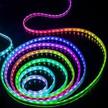 5m 2811 IC 5050 RGB LED רצועת אור 12V WS2811 30 נוריות/m פיקסלים לתכנות בודד מיעון דיודה קלטת מנורת טלוויזיה תאורה אחורית