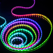 Tira de luces LED 5m, 2811 IC, 5050 RGB, 12V, WS2811, 30 LEDs/m, píxeles, programable, Individual, direccionable, luz de fondo para TV