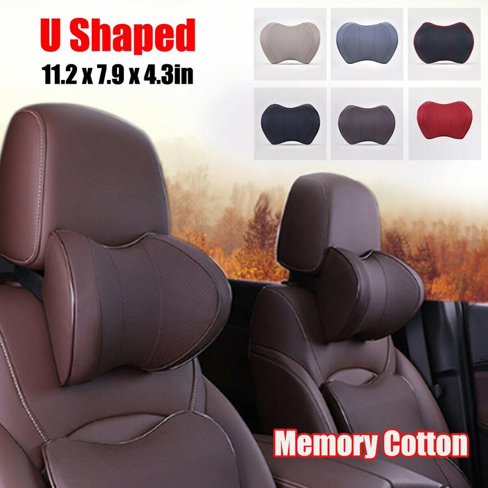 SALE Space Memory Cotton Car Headrest U Shaped Neck Pillow Auto Vehicle Rest Cushion Touch Comfortable Soft Breathable CSV