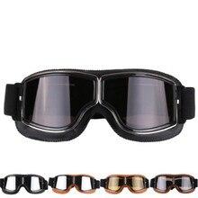 Universal Vintage Motorcycle Goggles Pilot Aviator Motorbike Scooter Biker Glasses Helmet Foldable