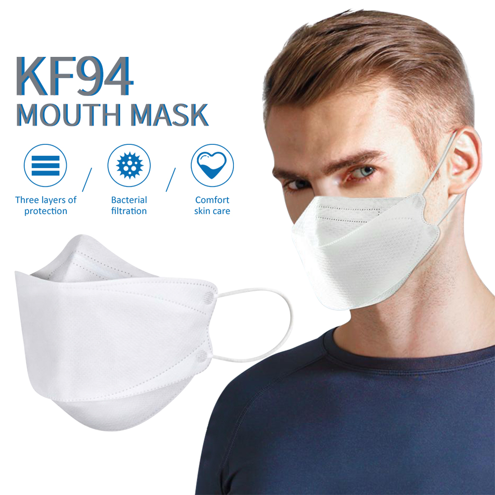 Image 2 - 마스크 kf94 Mask 20pcs Face Gas Mask Filtration Face Masks  Breathable Dust Mask Protection against Droplet Dust Particles  PollutionMasks