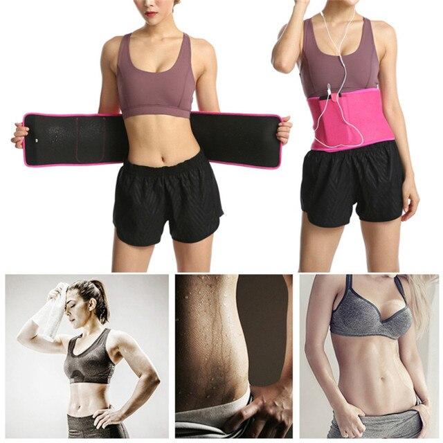 Women Adjustable Elastic Waist Support Belt Buna Lumbar Back Sweat Belt Slimming Fitness Belt Waist Trainer for Running Yoga 5