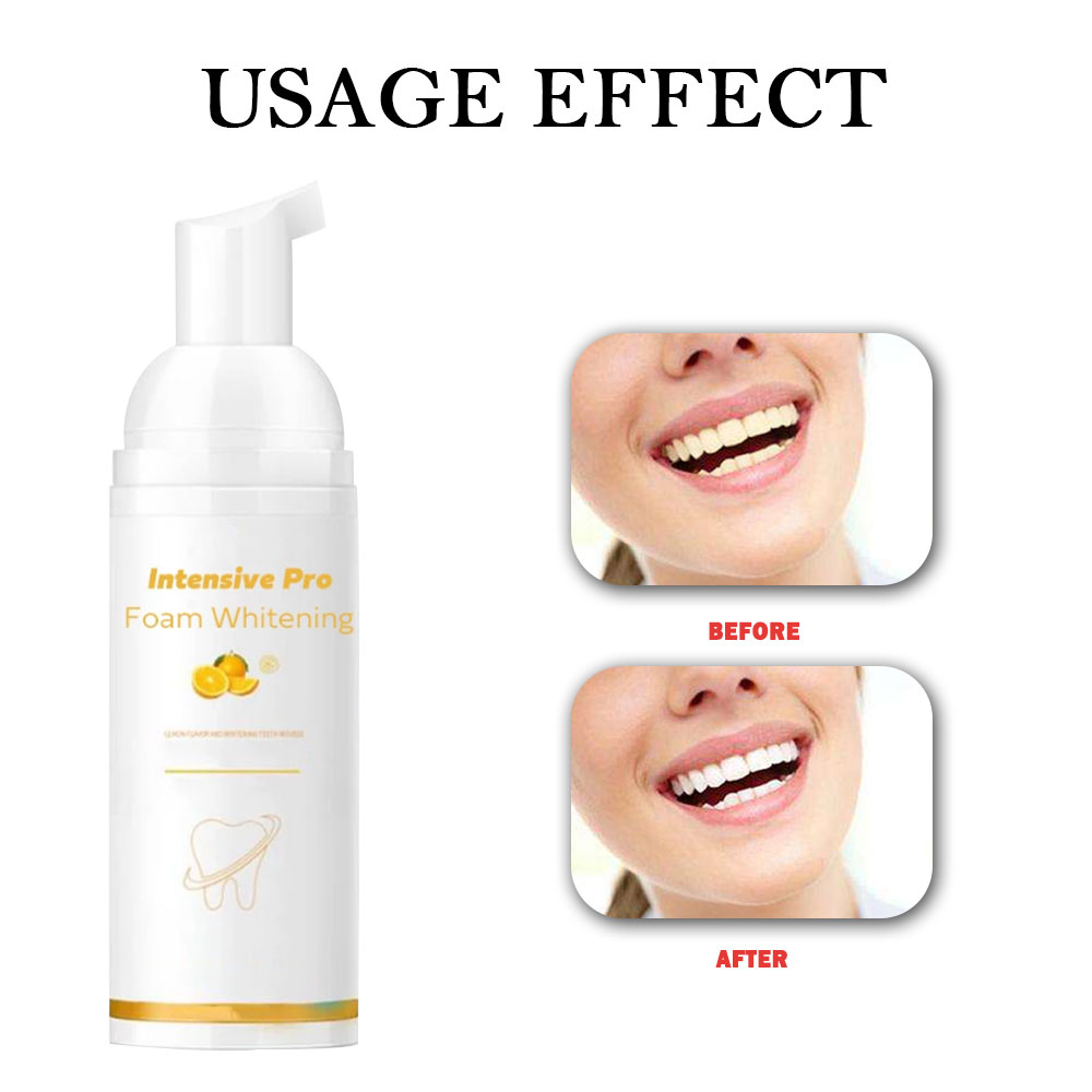 30ml Teeth Whitening Foam Toothpaste Natural Mouth Wash Water Remove Bad Breath Dental Care Toothpaste TSLM1