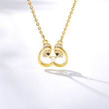 Hollow Crystal Cat Necklace Women Stainless Steel Choker Necklaces Pendents Animal Collares Naszyjnik Jewelry Accesorios Mujer