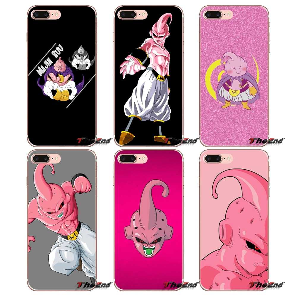 Caso de moda para Samsung Galaxy S2 S3 S4 S5 MINI S6 S7 borde S8 S9 Plus nota 2 3 4 5 8 Coque Fundas de Dragon Ball z super Majin Buu.