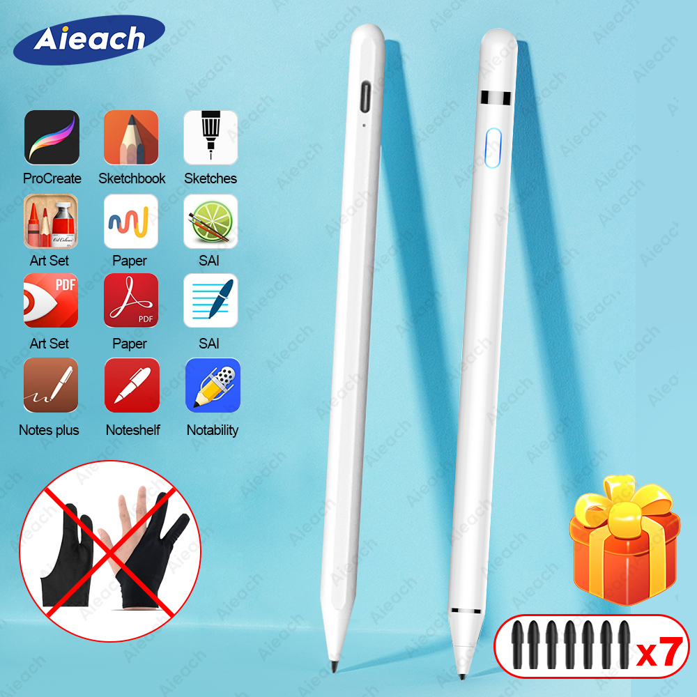 For IPad Pencil Stylus For IPad Pro 11 12.9 2020 10.2 2019 9.7 2018 Air 3 Mini 5 Palm Rejection Smart Touch Pen For Apple Pencil