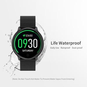 Image 5 - Rundoing relógio inteligente r7 esportivo, smartwatch com tela de 1.22, à prova d água, monitor de pressão sanguínea e oxigênio, para homens e mulheres, android e ios