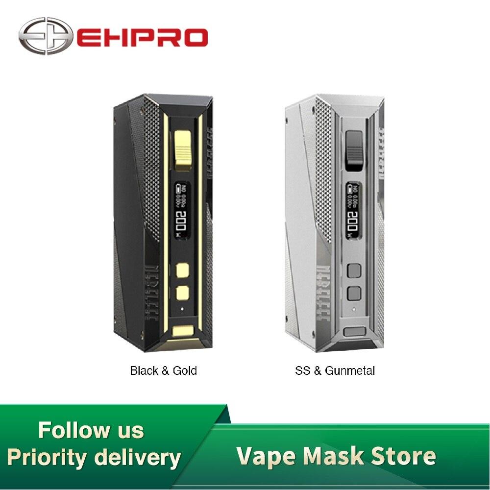 В наличии оригинальный Ehpro холодной стали 200 TC коробка мод с 200 Вт Макс выход и конструкция из нержавеющей стали без батареи против Aegis Solo