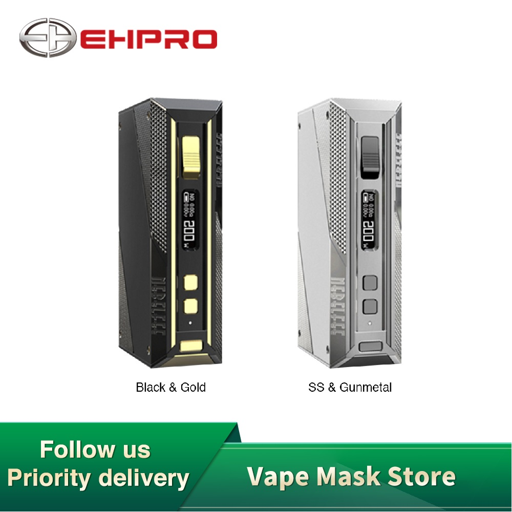 En existencia Original Ehpro Cold Steel 200 TC Box MOD con salida máxima de 200W y construcción de acero inoxidable sin batería vs Aegis Solo