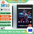 Планшет Perkbox M10 на Android 10,0, восемь ядер, экран 10 дюймов, 4G LTE, две SIM-карты, 6 ГБ ОЗУ 64 Гб ПЗУ, аккумулятор 5000 мАч, Wi-Fi, GPS