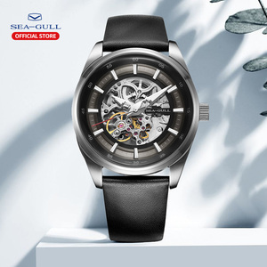 Image 4 - Seagull zegarek męski biznes Hollow Luminous wodoodporny automatyczny zegarek mechaniczny zegarek męski mechanik 819.92.6076H