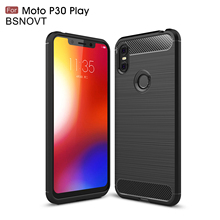 For Moto One Case Silicone Brushed Bumper Anti-knock Motorola P30 Play / 5.9