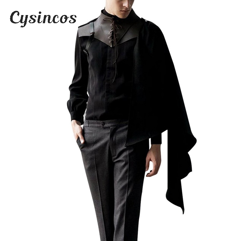 CYSINCOS Medieval Men Costumes Accessories   Vest Knight Shawl Cape Women Renaissance Cosplay Shawls Vests