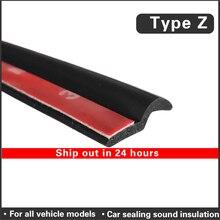Car Door rubber seal strip Z Type Noise Insulation Weatherstrip Sealing Rubber Strip Trim Auto Rubber Seals Z shaped Seal