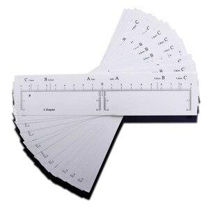 Image 4 - 10 قطع Microblading ملصقات ستنسل الحاجب لوازم ماكياج دائم المتاح قالب الحاجب قالب دليل الرسم