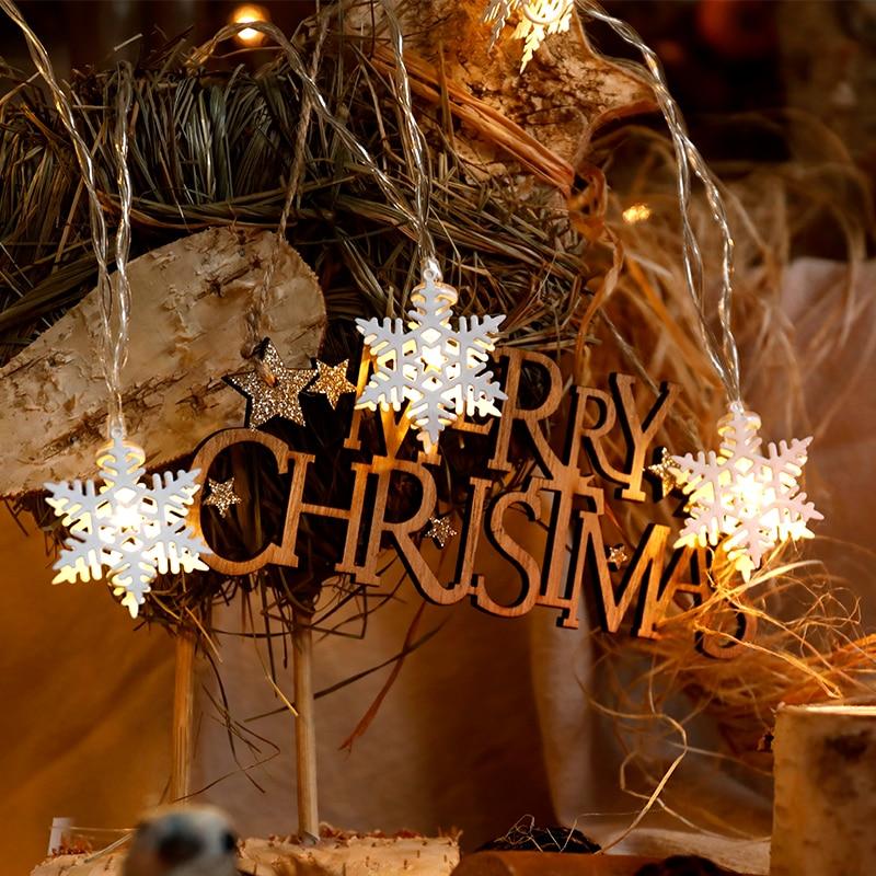 Christmas Decoration Indoor Led Snowflake String Light