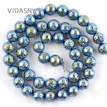 лучшая цена Natural Gem Stone Green Lave Hematite Mineral Beads For Jewelry Making 4 6 8 10mm Round Loose Beads Diy Bracelet Necklace 15''