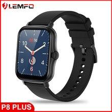 Lemfo p8 plus relógio inteligente 2021 masculino mulher 1.7 polegada tela de toque completo rastreador fitness ip67 à prova dip67 água gts 2 smartwatch para xiaomi