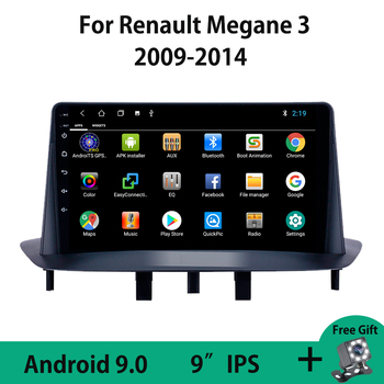 Android 9.0 Car Radio Multimedia Video Player Navigation GPS No 2Din DVD For Renault Megane 3 2009 - 2014 Bluetooth Carplay USB image