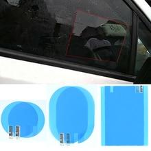 2 قطعة سيارة مرآة خلفية طبقة رقيقة واقية مكافحة الضباب نافذة واضحة غير نافذ للمطر مرآة الرؤية الخلفية واقية لينة فيلم اكسسوارات السيارات