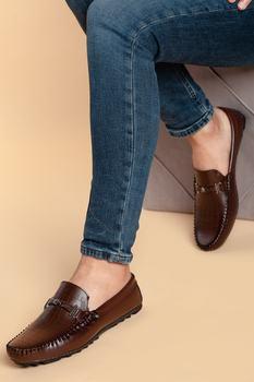 Mokasyny męskie buty wulkanizowane wykorzystujące modę na każdą pogodę PU trwałe wygodne dżentelmeńskie w stylu Casual czarny brązowy 40-46 tanie i dobre opinie Unbranded TR (pochodzenie) Stałe Wiosna jesień Slip-on Pasuje prawda na wymiar weź swój normalny rozmiar
