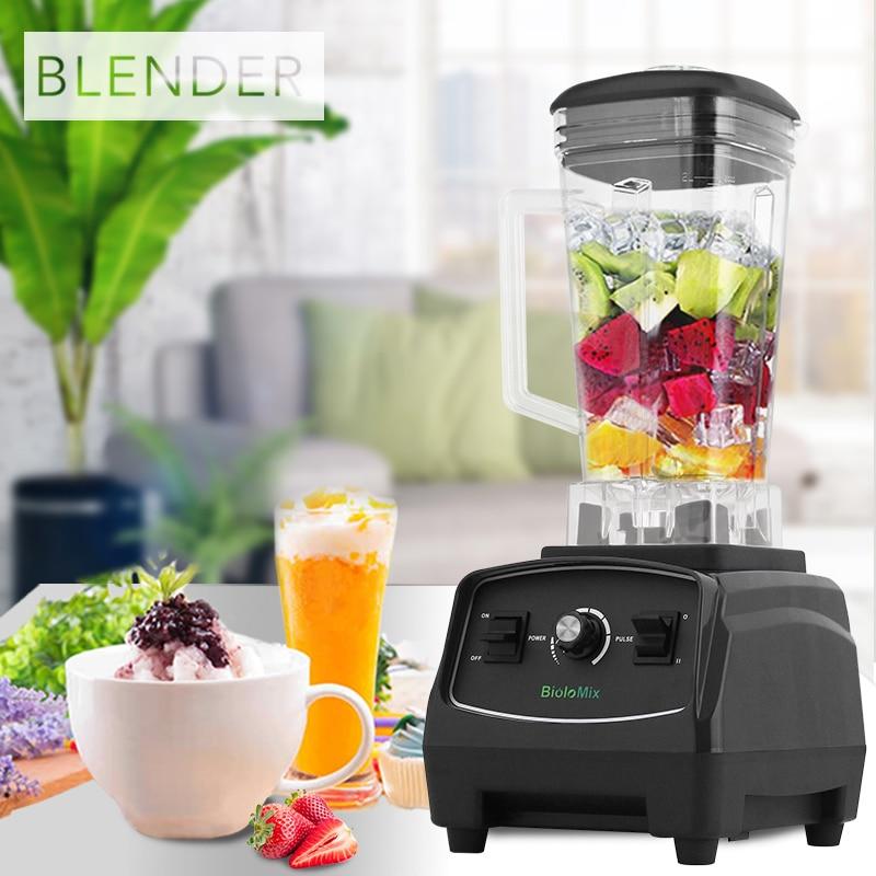 Блендер-комбайн, мощный блендер, миксер, устройство для приготовления смузи, без BPA, 2200 Вт