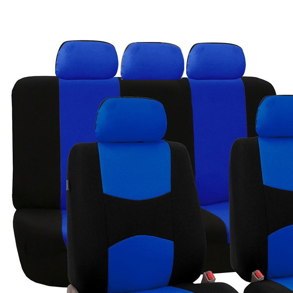 Replacement Seat Covers Set Kit Universal Car Auto Cushion Polyester Blue