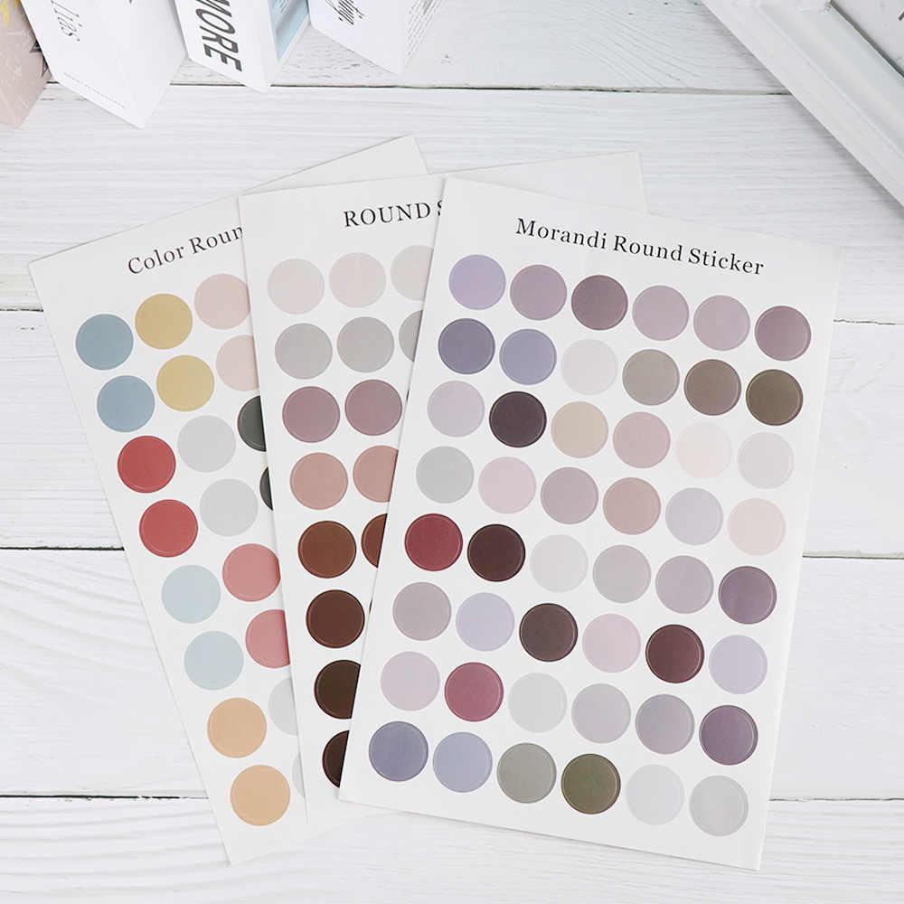 1 arkusz DIY naklejki do pisania Dot Morandi kolor księga gości fotoalbum dekoracje ścienne naklejki uszczelniające papiernicze prezenty dla dzieci