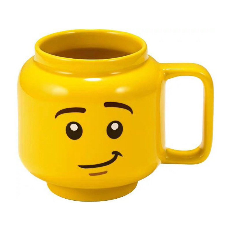 Yellow Smile Ceramic 3D Sculpted Mug Coffee Milk Cup