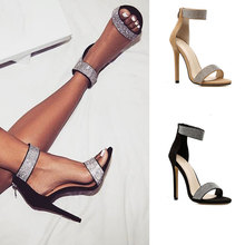 Shoes woman 2020 fashion thin heels women pumps ankle sandals