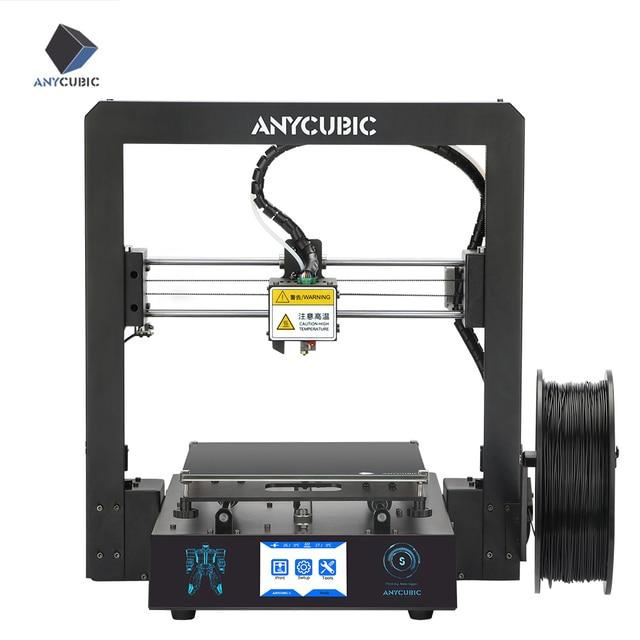 ANYCUBIC מגה S 3D מדפסת impressora מכבש TFT מגע מסך Ultrabase ענק לבנות נפח PLA שולחן העבודה impresora 3d דרוקר
