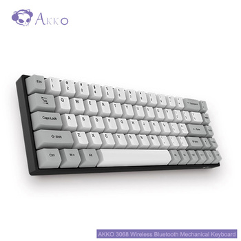AKKO 3068 Bluetooth 3.0 Mechanical Keyboard 68 Keys Wireless Type-C Wired Cherry Switch Retro 85% PBT Caps for Home Office