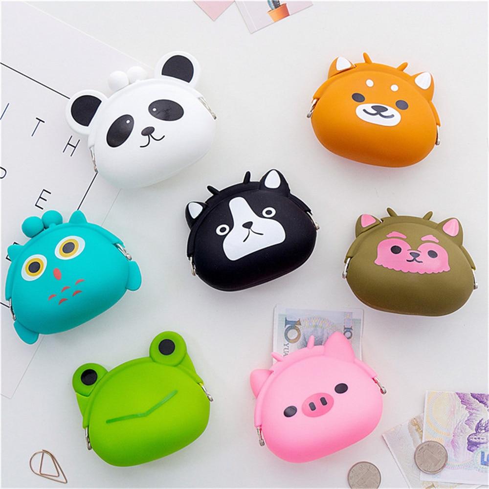 Cute Cartoon Animals Coin Purse Small Wallet Key Money Coin Bag Portable Wallet Children Prize Gift Women Girl Kawaii Cat Purse
