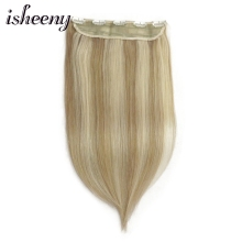 """Isheeny 1"""" 20"""" 2"""" 28"""" Remy клип-в один кусок 20 г натуральные тонкие бразильские человеческие волосы на заколках для наращивания"""